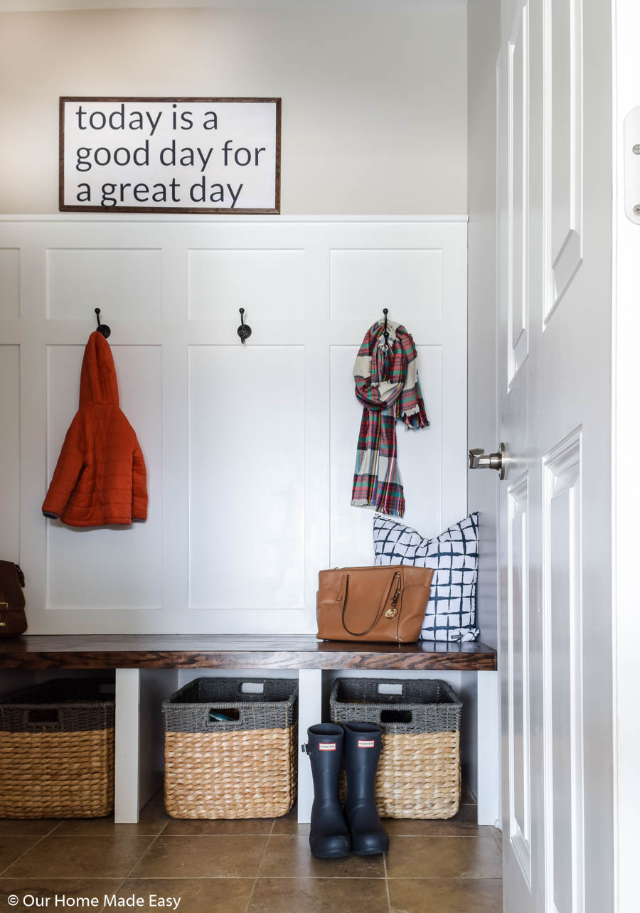 Once you make room for storage, use it! Don't clutter up your clean small space with unnecessary items