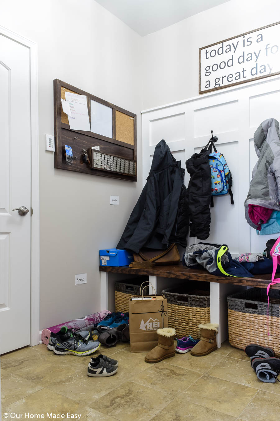 Even with more storage, small spaces can get disorganized quickly