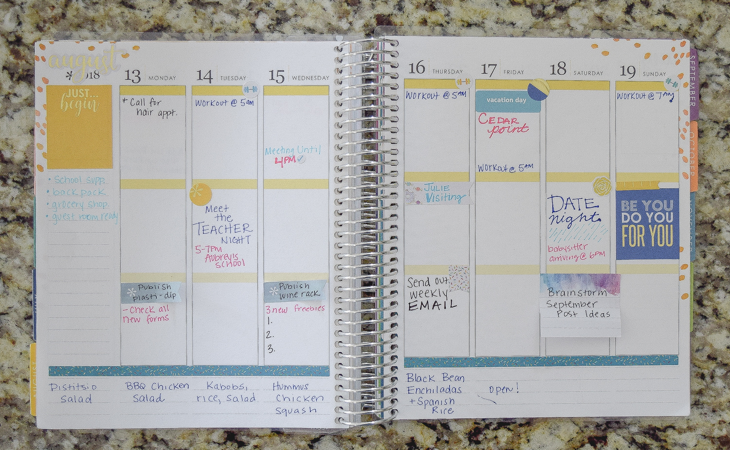 Learn how to use your planner to organize your days and weeks, keep track of your family activities, and more!