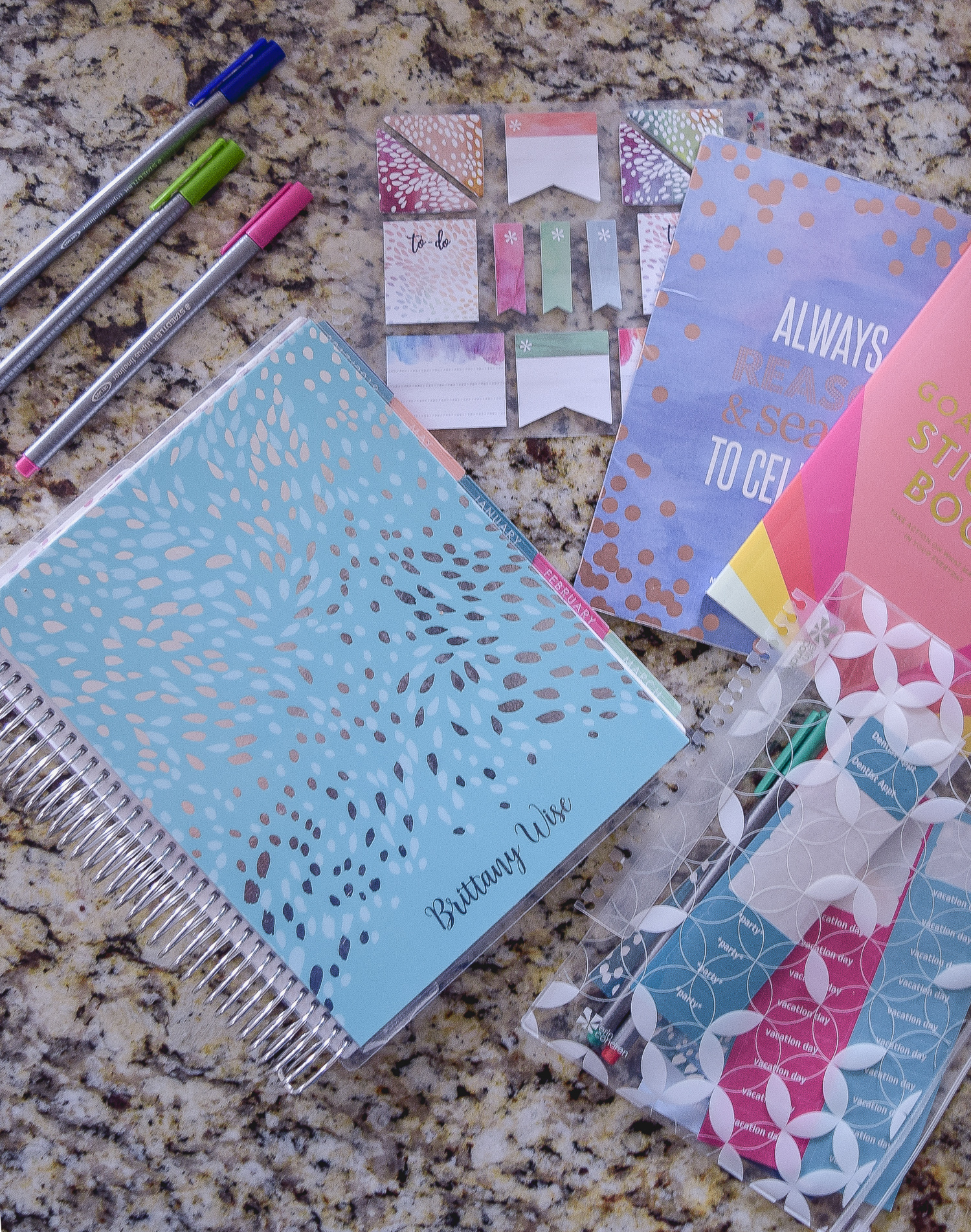 Use a planner that fits your personality! The more you LOVE your planner, the more you'll use your planner effectively