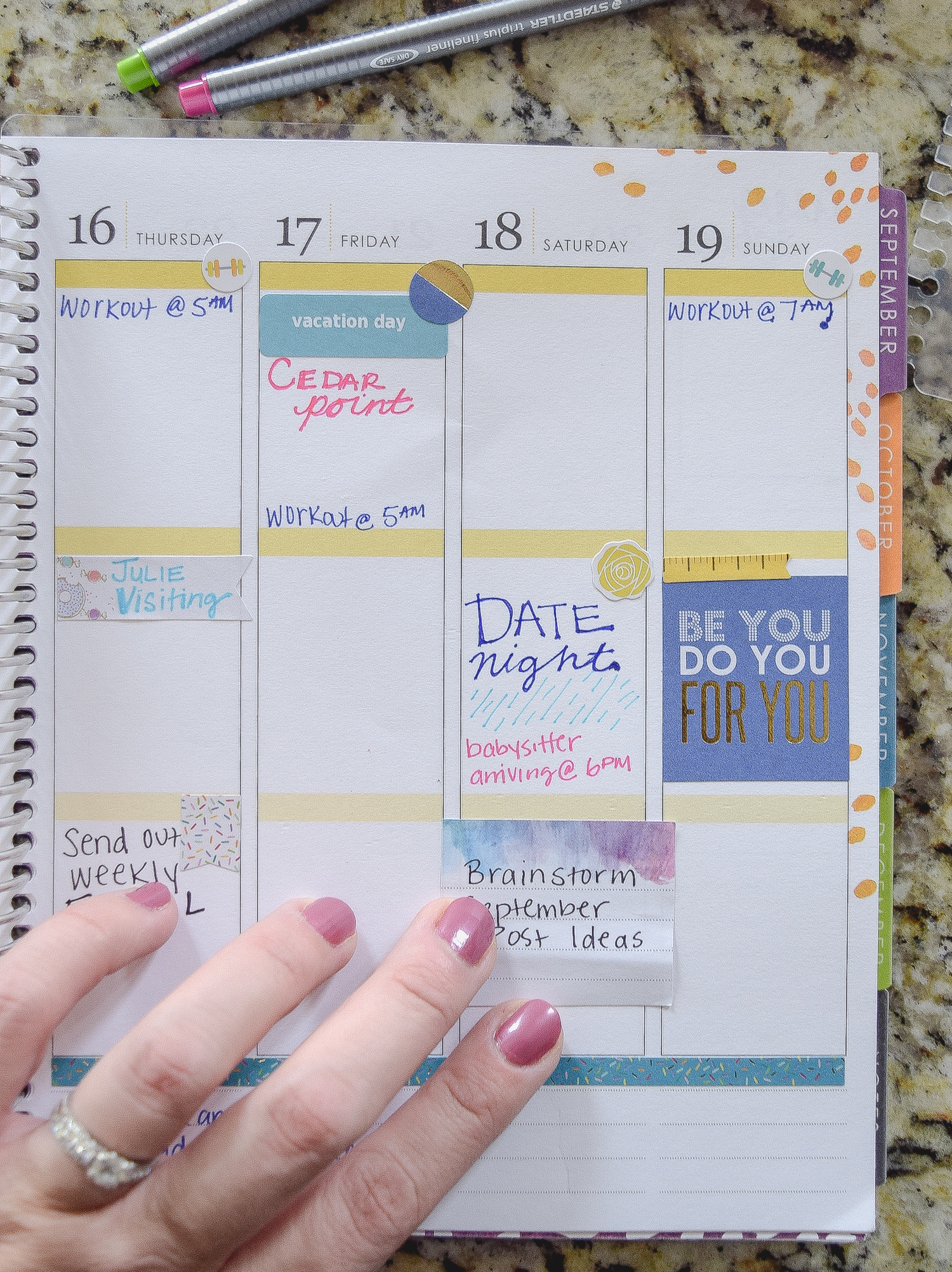 Stickers are GREAT if you want to use a planner effectively. Add stickers to spice up your weekly planner!