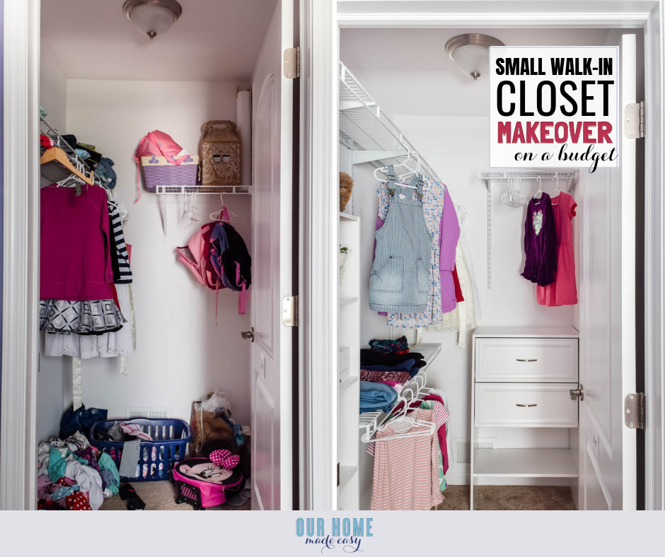 DIY Small Bedroom Closet Organization Reveal – Our Home Made ...