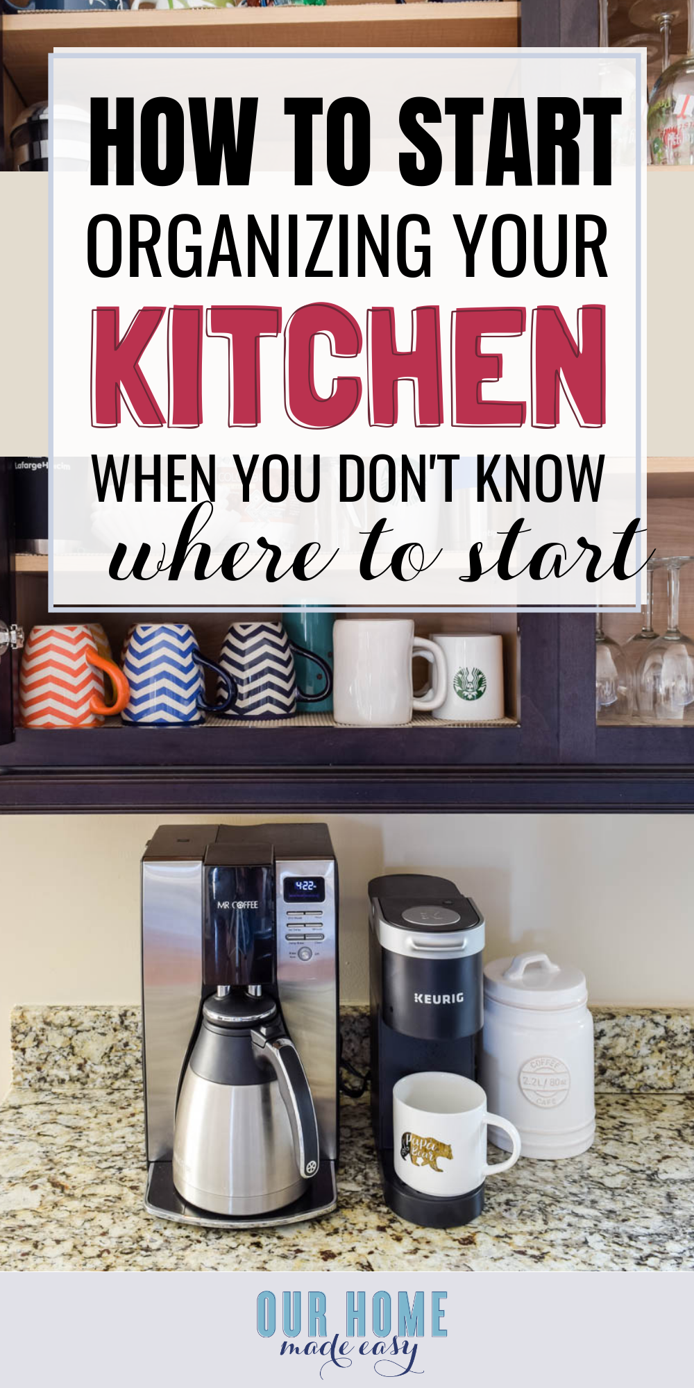 How to start organizing your kitchen when you don't know where to start
