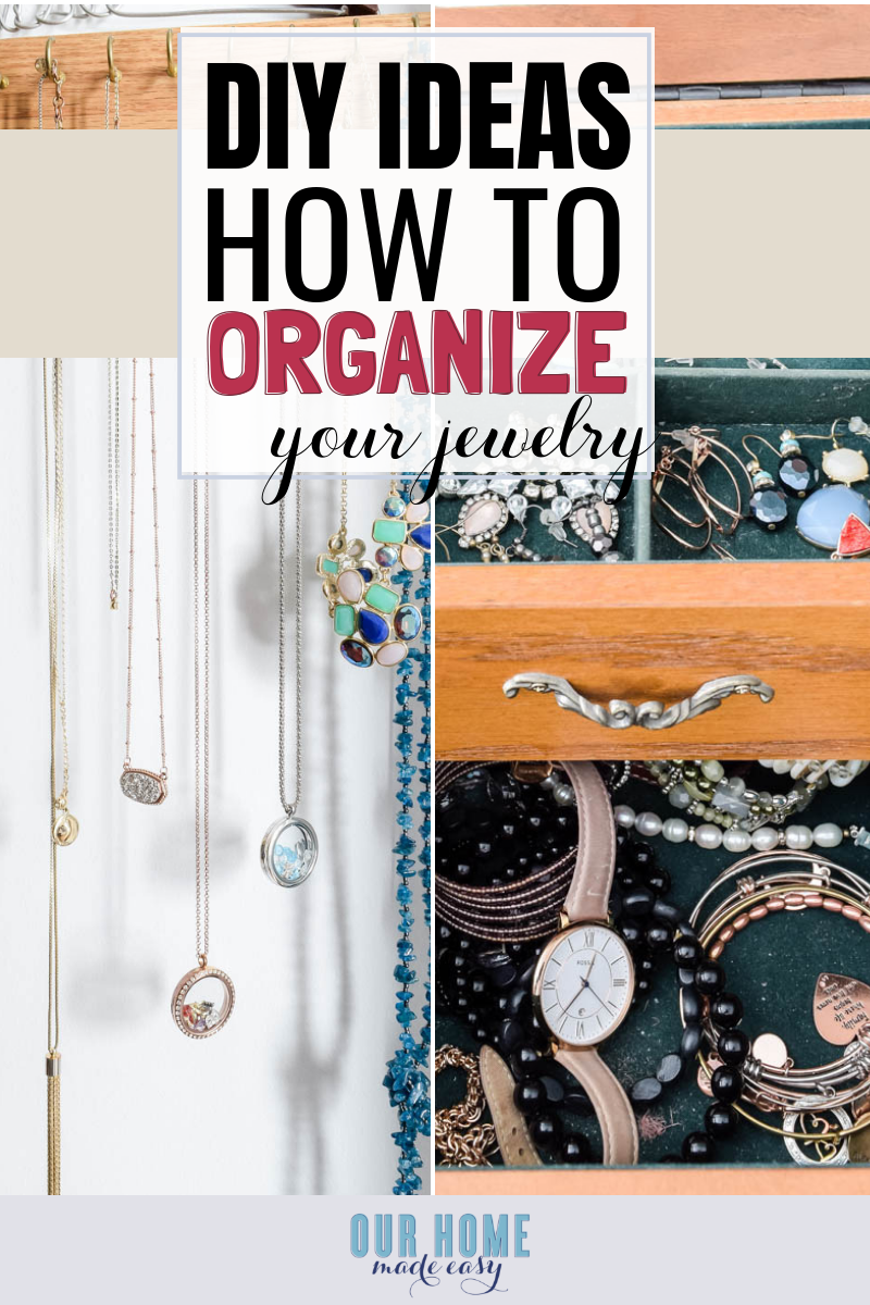 How to declutter your jewelry box! #organization #homedecor #organize #ourhomemadeeasy