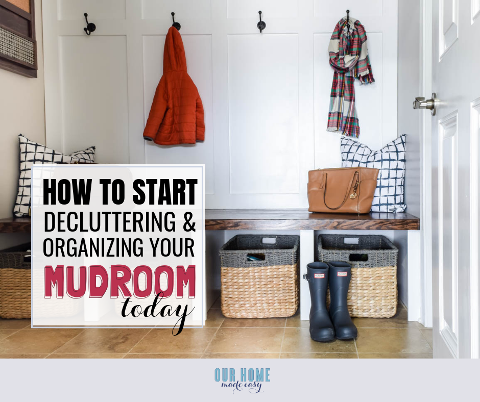 Home Storage Ideas For Small Spaces: DIY Mudroom Organization For Small Spaces & Storage Ideas