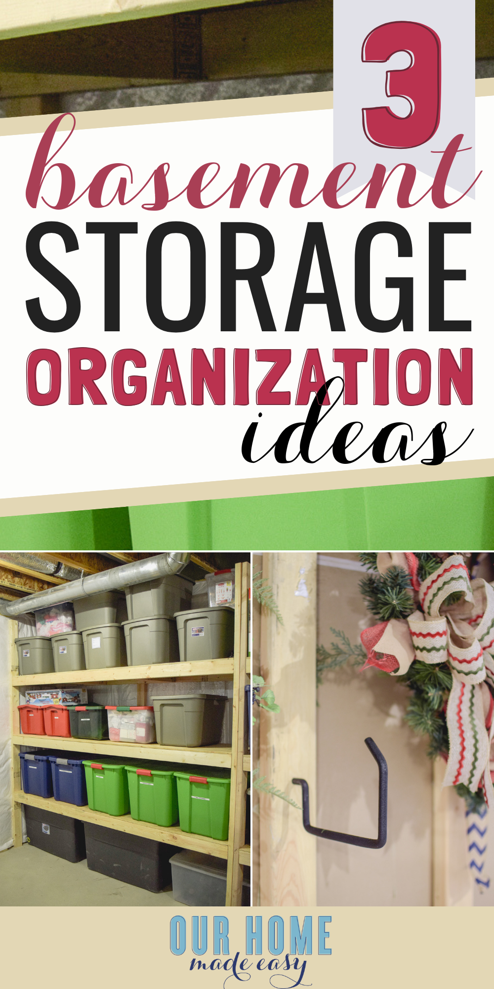 Easy Basement Storage Ideas: Get started on clearing the clutter with these storage ideas and tricks