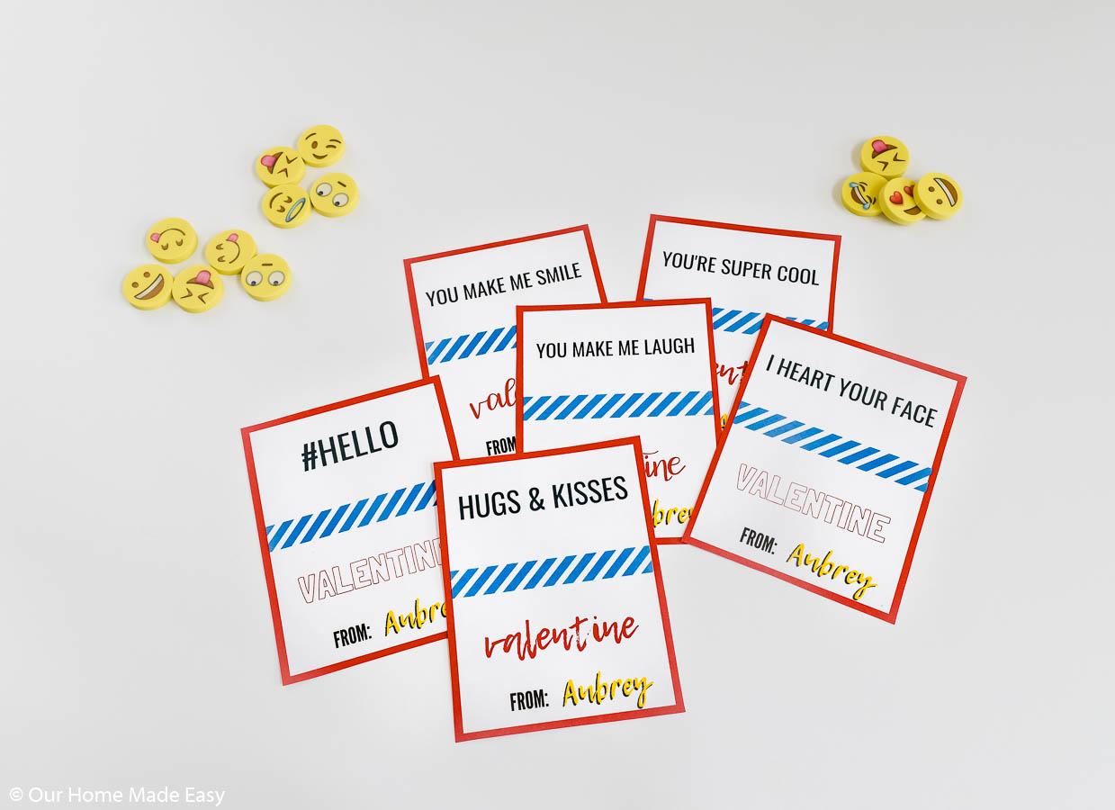 Make your valentine feel loved with these free printable emoji valentine cards
