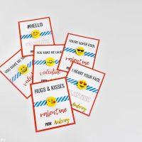 Free Printable Emoji Eraser Valentine's Cards