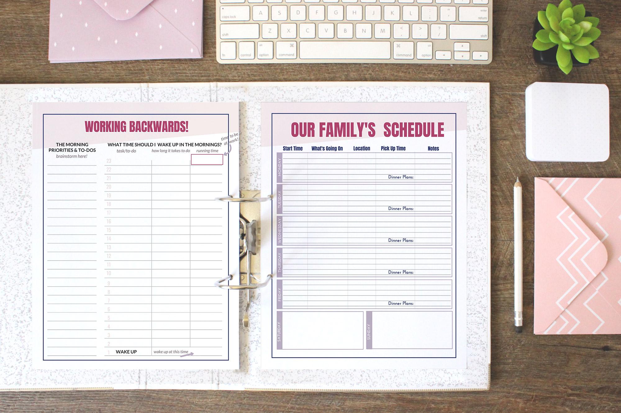 The Complete Schedule Overhaul workbook is the ultimate working mom's resource