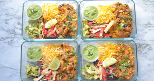 Instant Pot Meal Prep – Quinoa Burrito Bowl