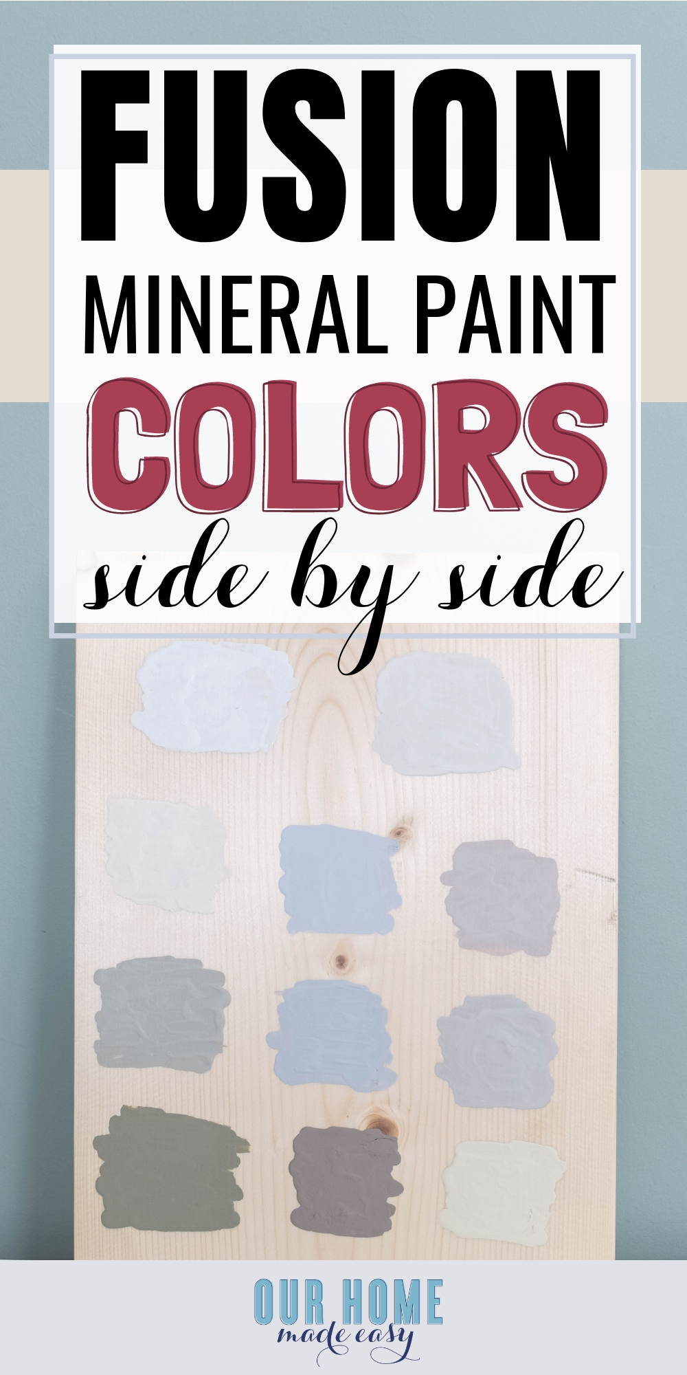 See 11 of the most popular neutral Fusion Mineral Paint colors at a glance! Skip buying your own containers and use this guide instead!