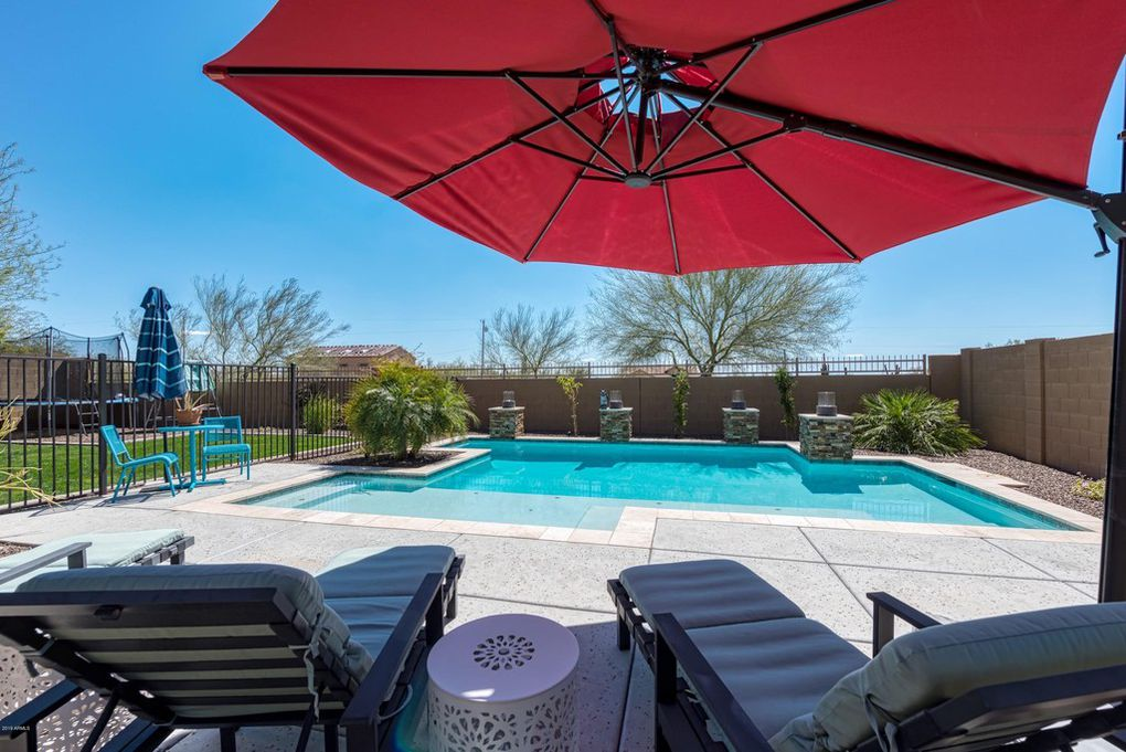 Our new home's backyard in Phoenix has a pool!