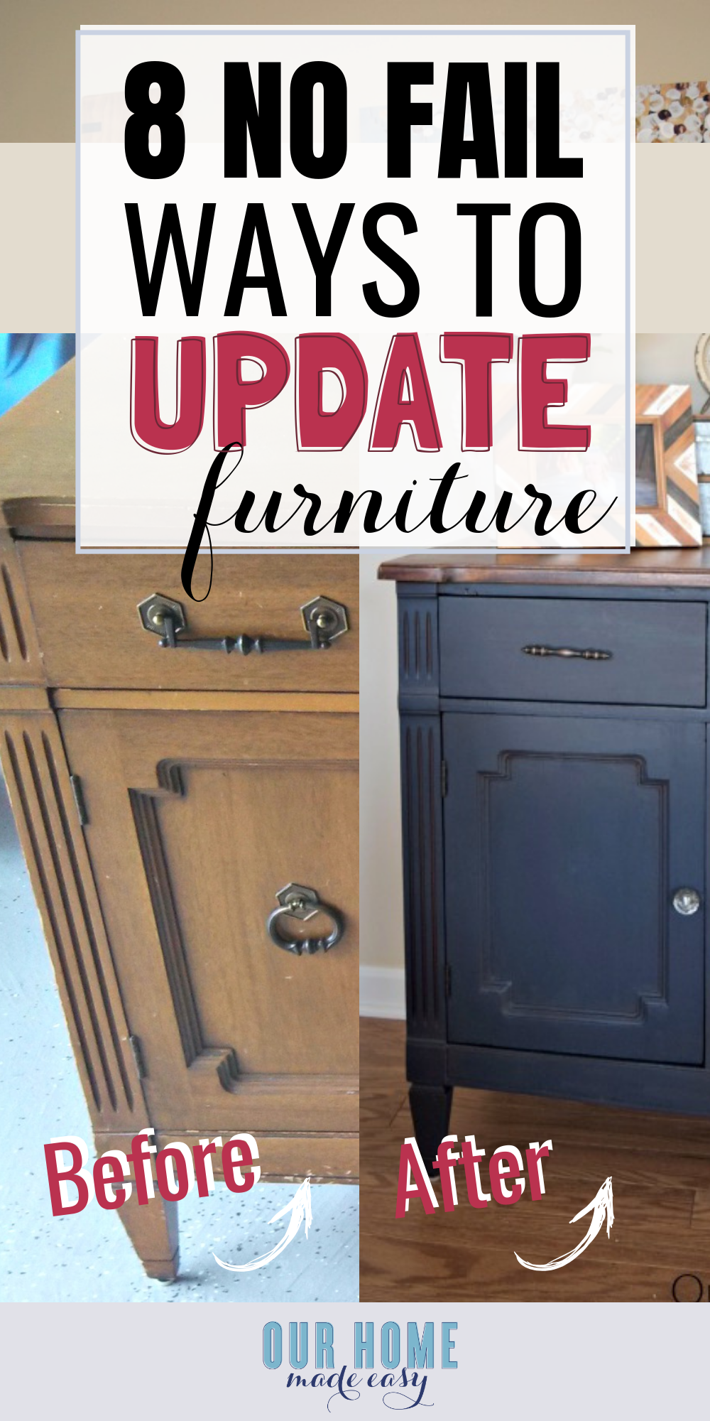 how to update furniture