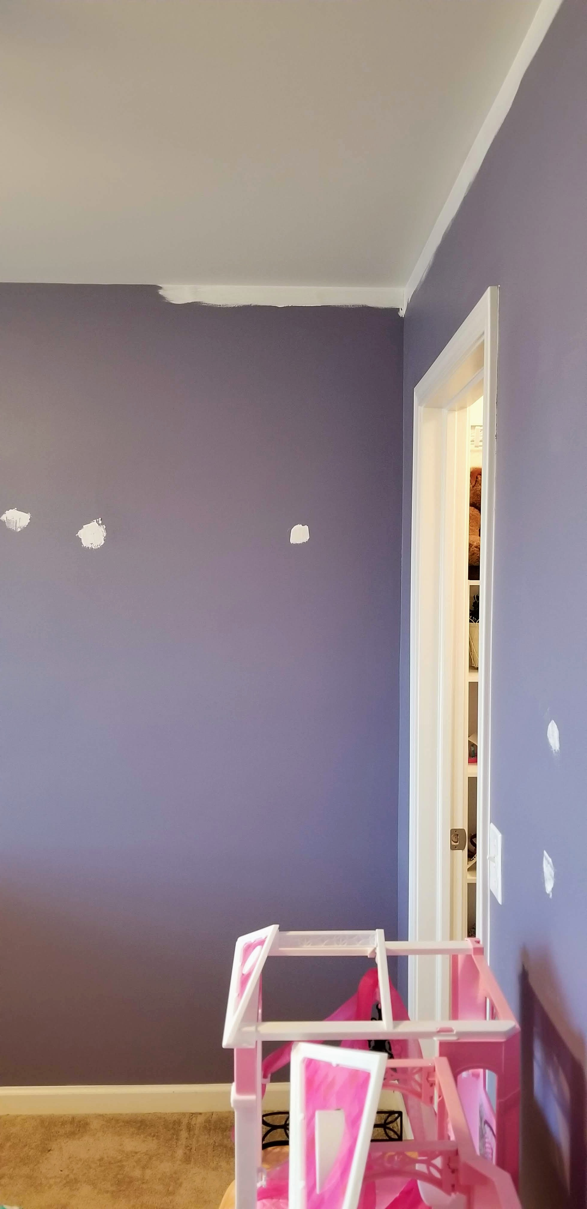purple bedroom touch up