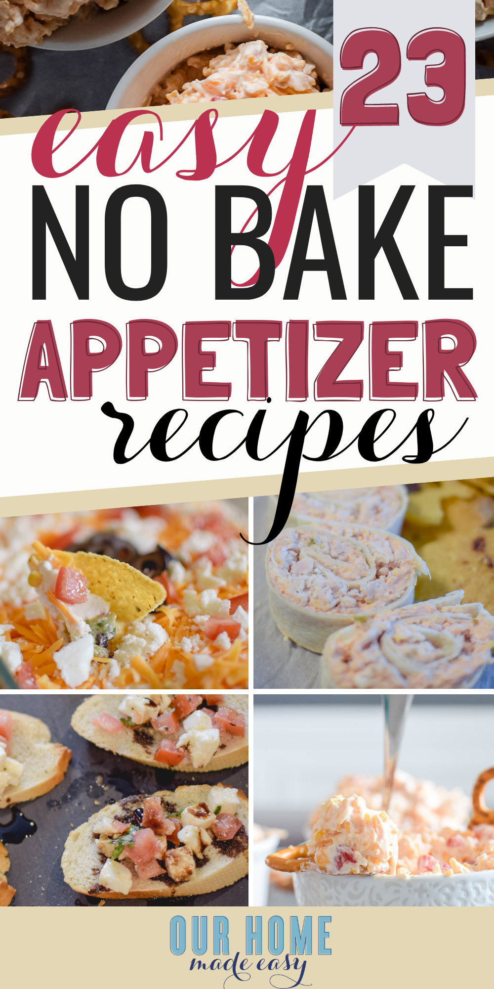 You've got to try some of these super easy no bake appetizers at your next summer party! From savory to sweet, there's something for everyone
