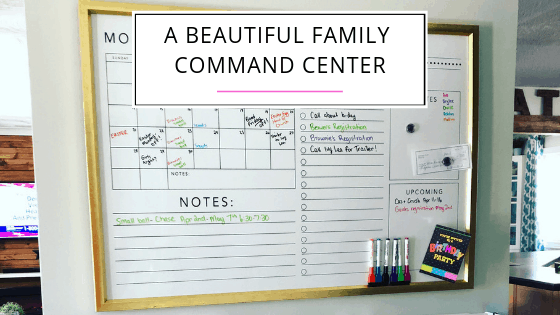 A Beautiful Family Command Center to Keep You Organized