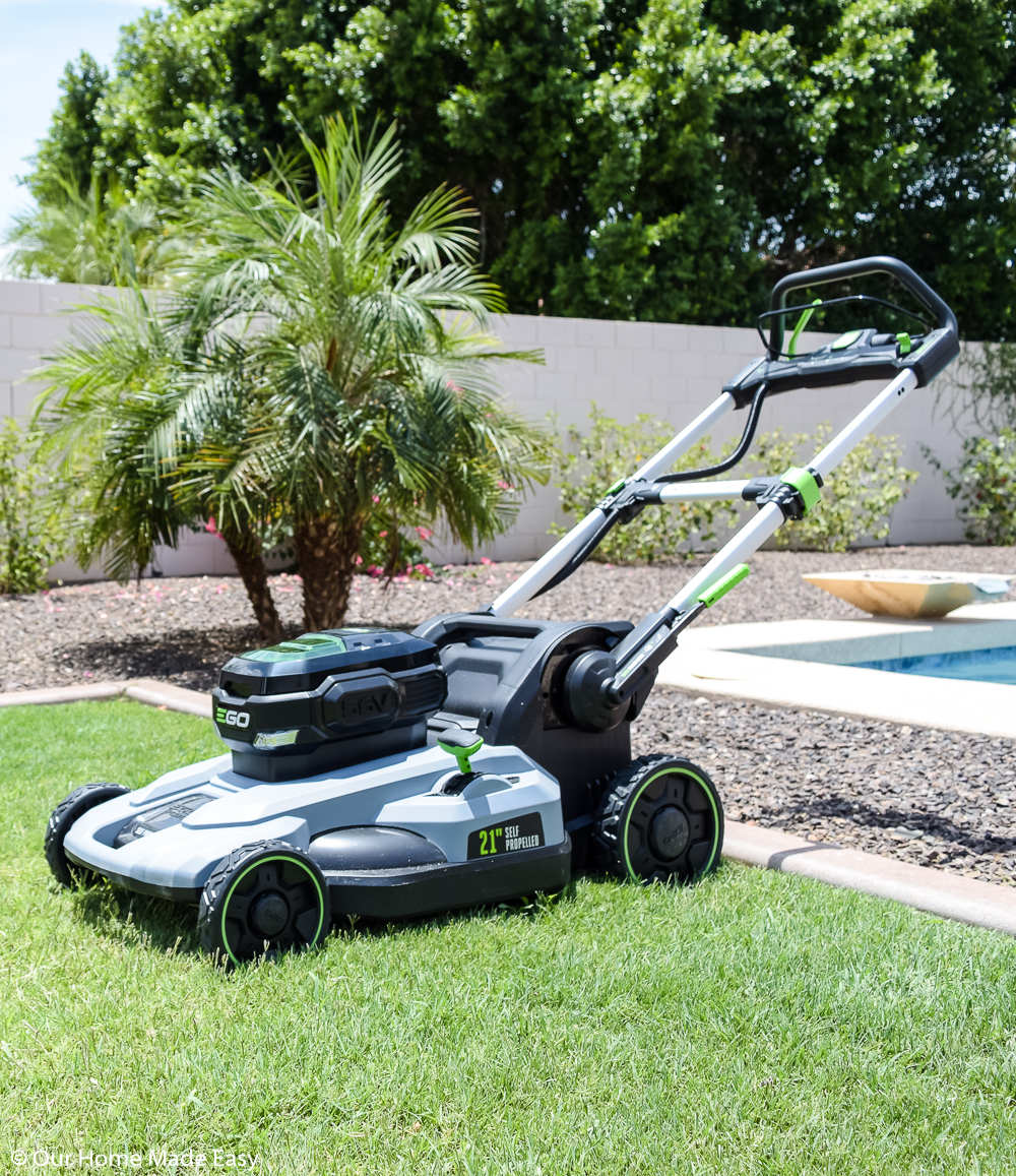 We love how easy mowing the lawn is with our new EGO lawnmower
