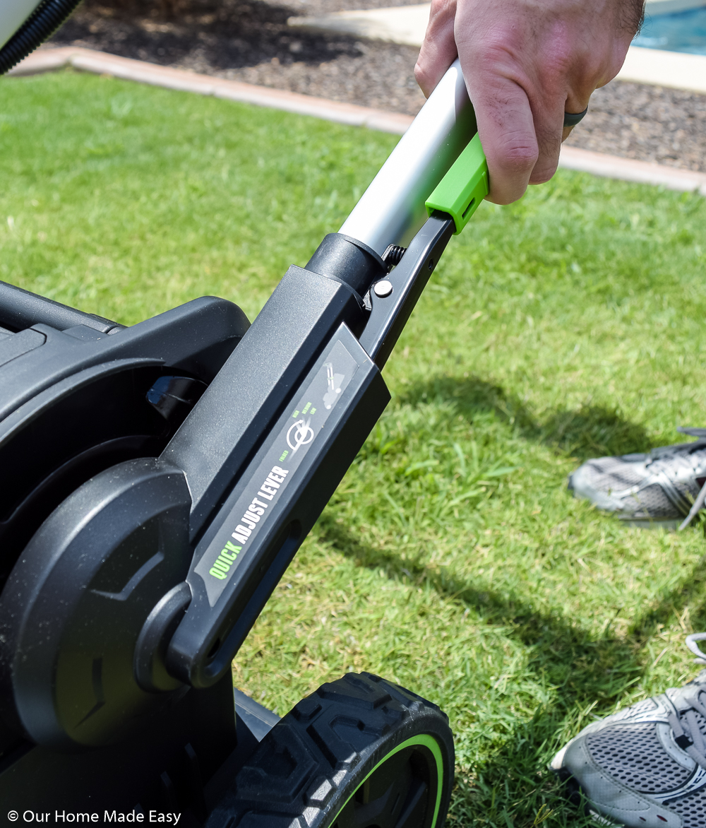 The EGO lawnmower is an easy tool that makes mowing the lawn a simple task