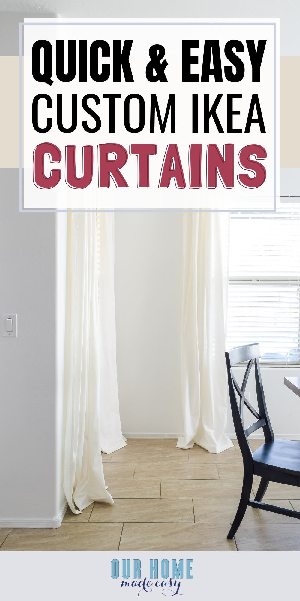 semi homemade DIY curtains