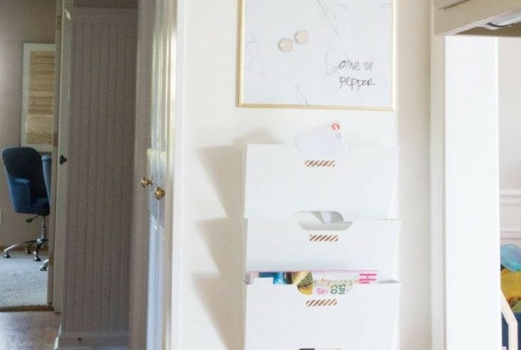 Family Command Center: DIY Command Center for Hallway and Kitchen