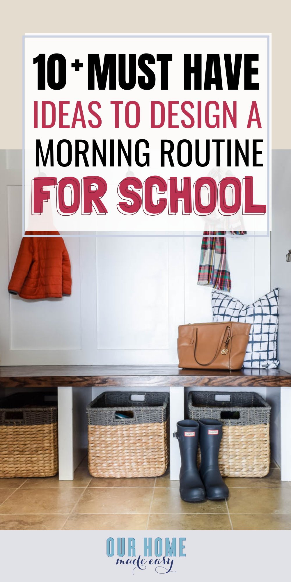 10 Must-Have Ideas to Design a Morning Routine for School Days