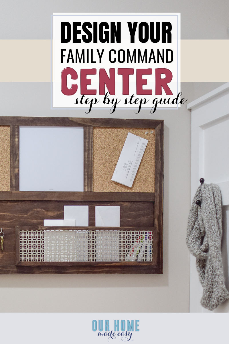 A step by step guide to designing your perfect family command center
