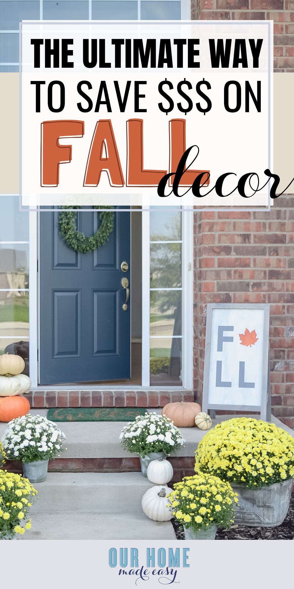 fall holiday decorating on a budget