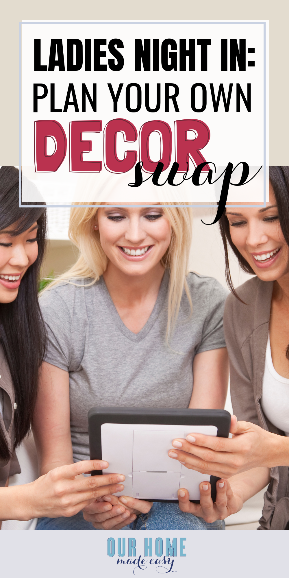 Ladies Night In: Plan a decor swap and start planning your holiday decor on a budget!