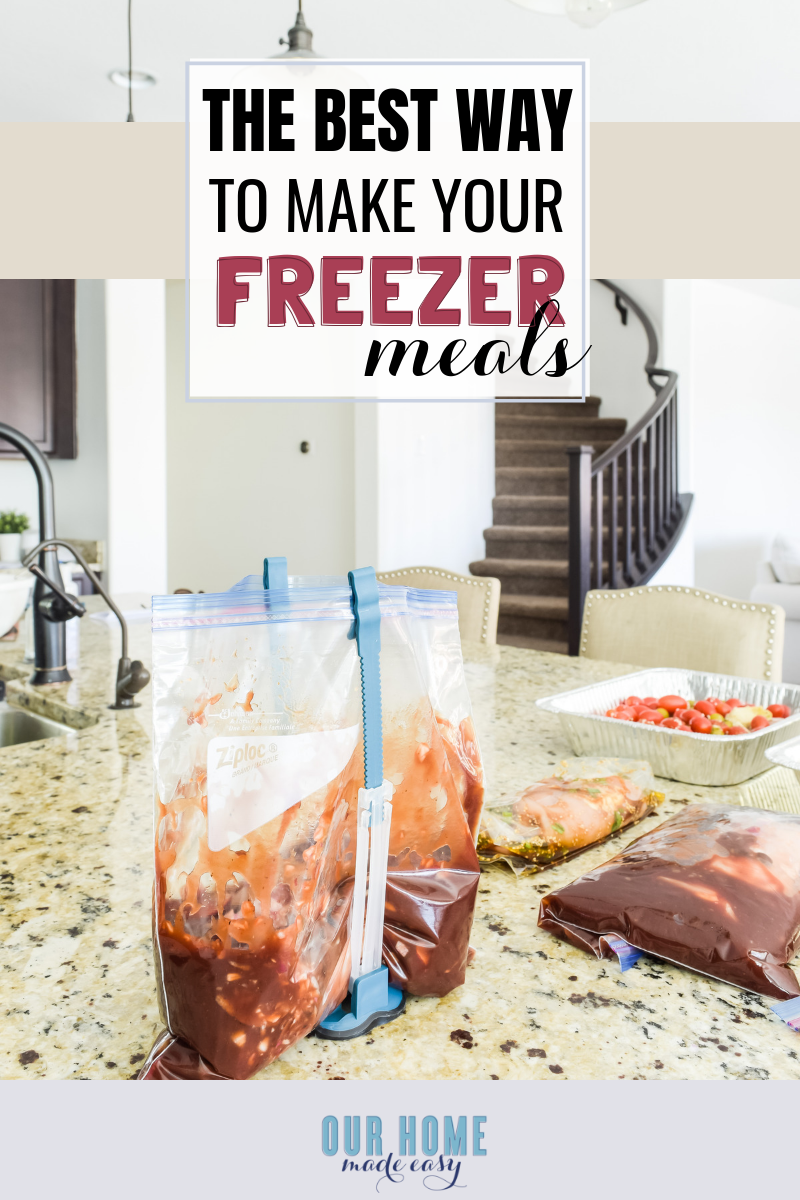 This is the best way to plan your own freezer meals when you are too busy during the week! Simply print off your shopping list and start assembling freezer dinners!