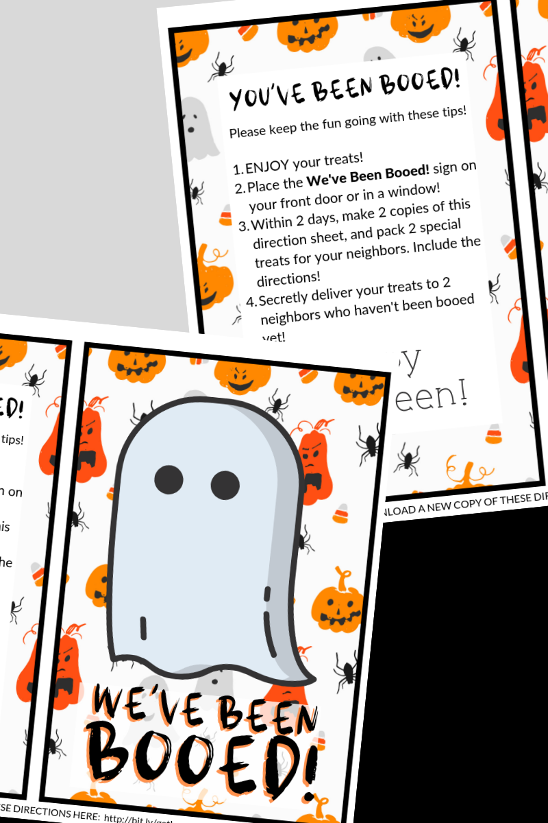 Include these You've Been Booed printables in your Halloween treat buckets to share the fun of the You've Been Booed game