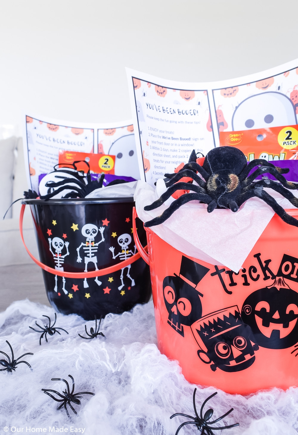 These adorable You've Been Booed treat buckets are great for a little Halloween fun