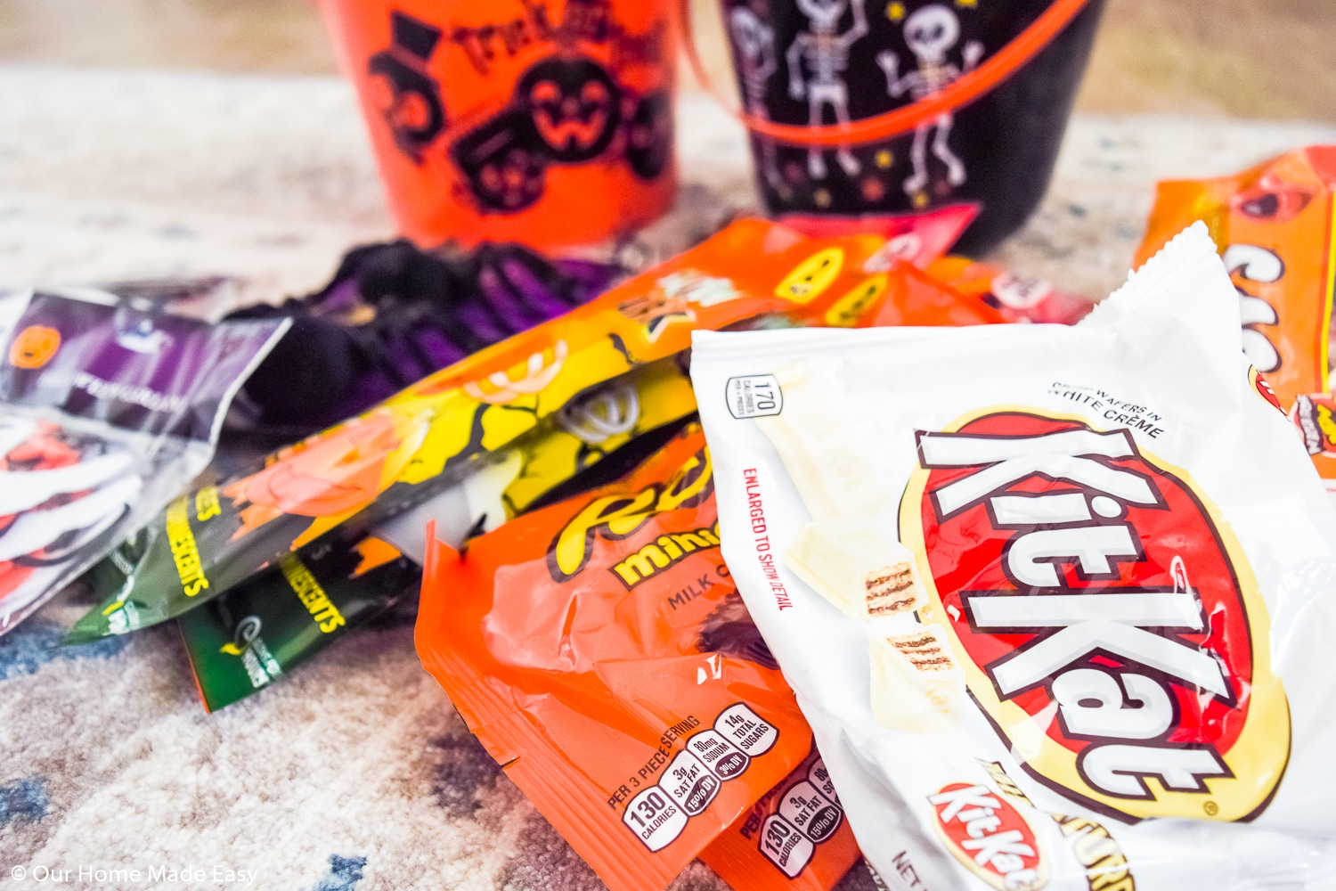 The best part of these You've Been Booed buckets? The candy, of course!