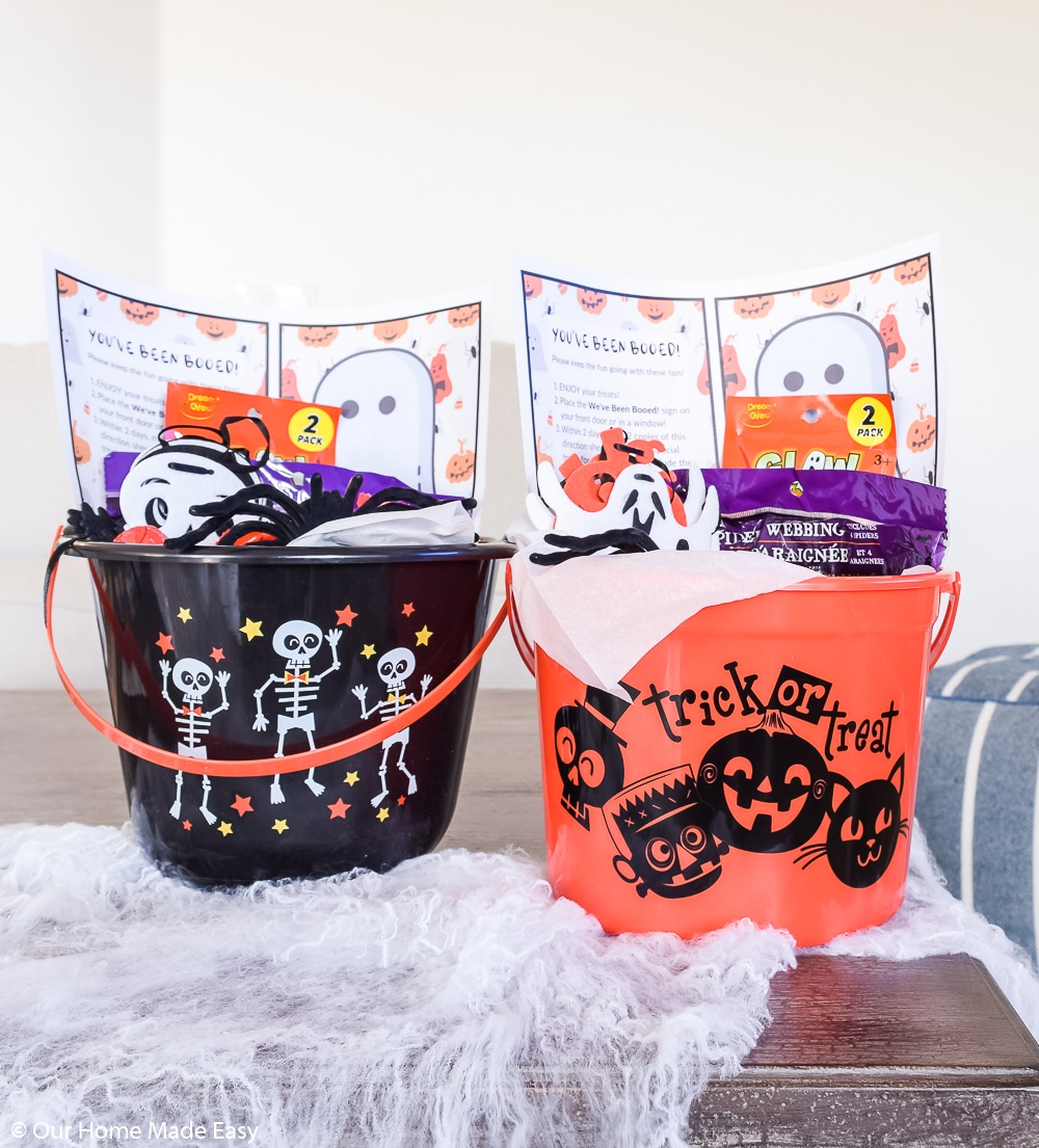 These You've Been Booed treat buckets are a fun activity to spread the spirit of Halloween!