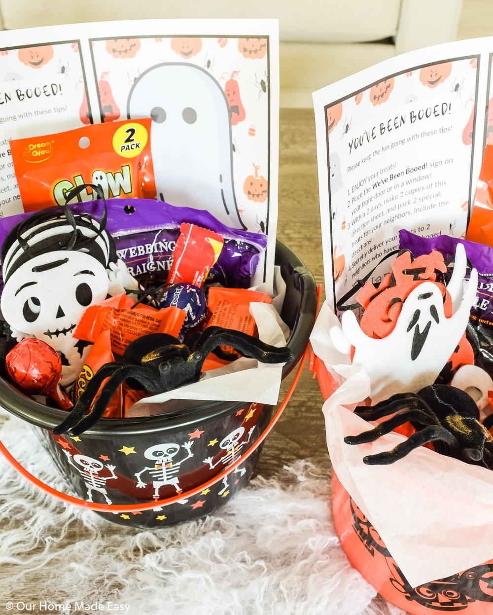 These You've Been Booed buckets are a fun way to celebrate Halloween with your friends and family