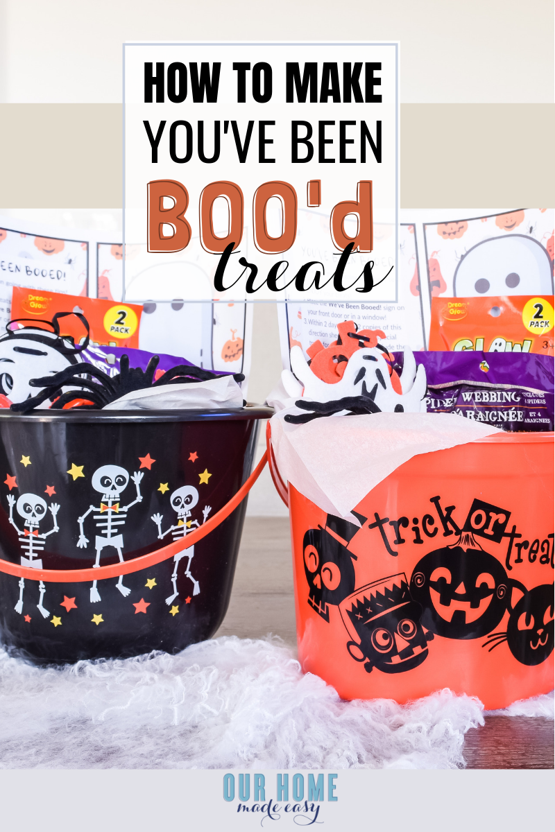 Here's a fun Halloween You've Been Booed activity! These treat buckets are a fun activity for kids when you're short on time