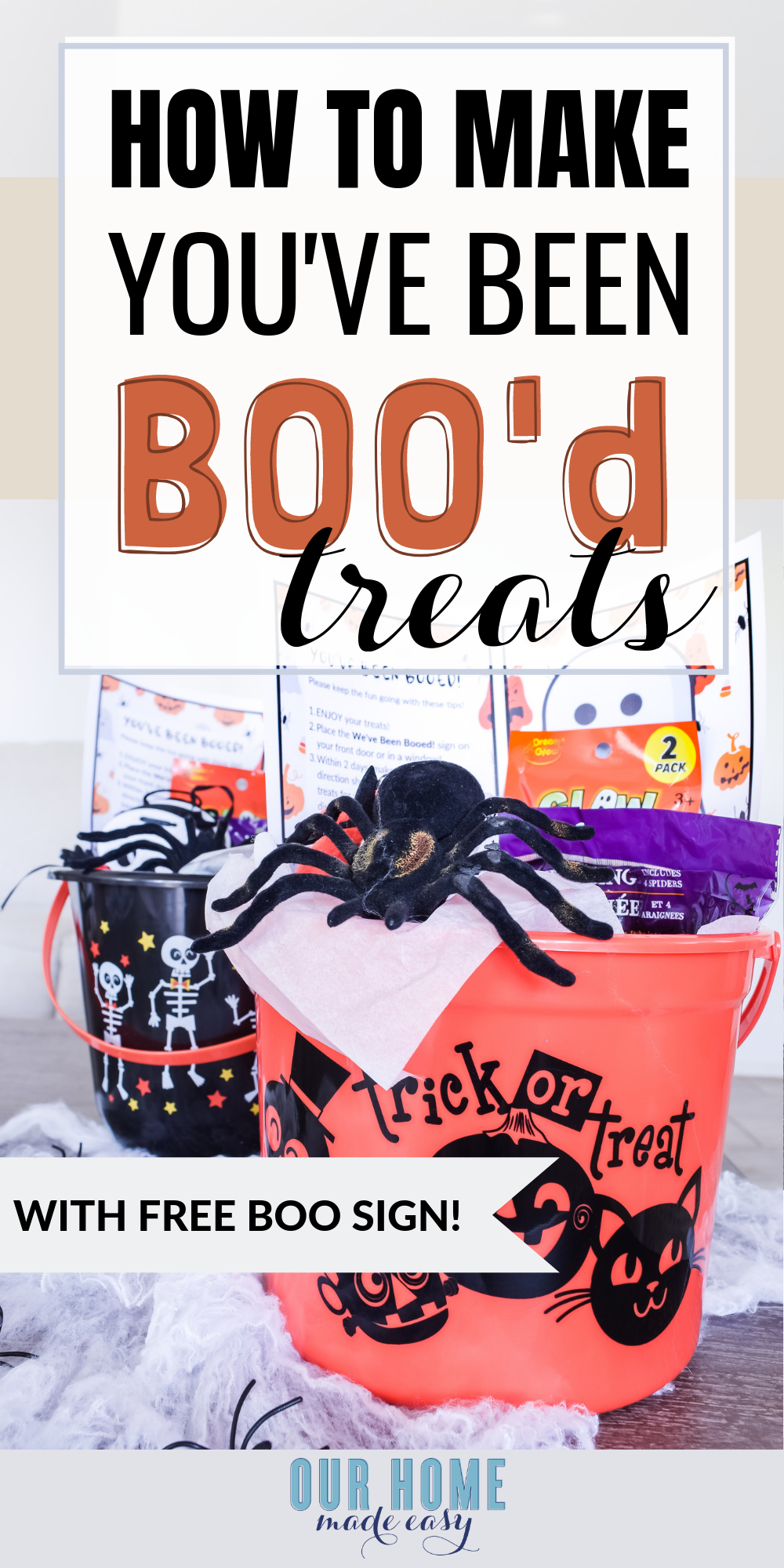 How to make You've Been Booed treat buckets! This Halloween activity is a great way to spread the joy and fun of the Halloween season with friends, neighbors, and family.