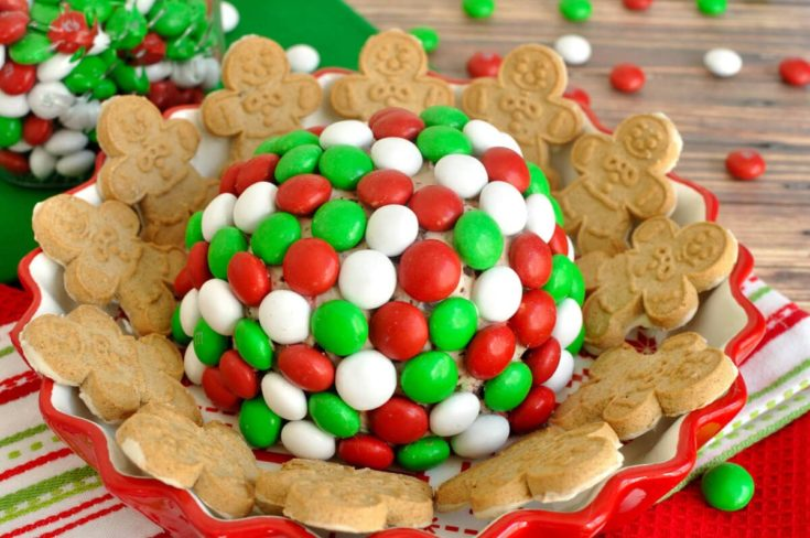Holiday M&M Peppermint Cheese Ball