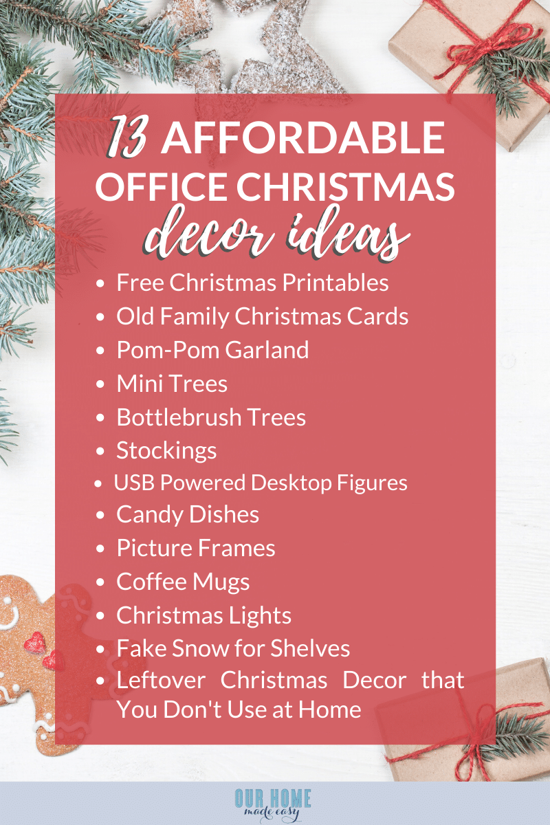 list of Office Christmas Decorations