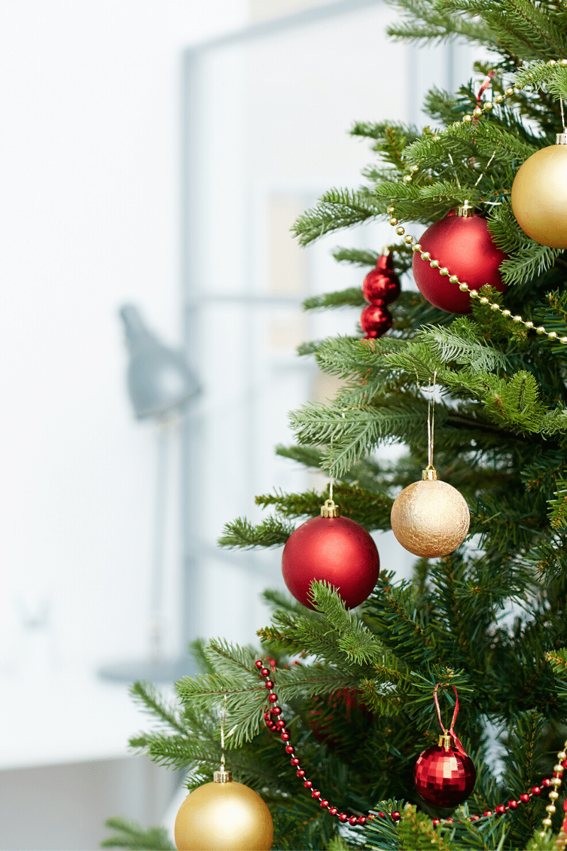 Christmas garland is a great way to deck out your home office for Christmas