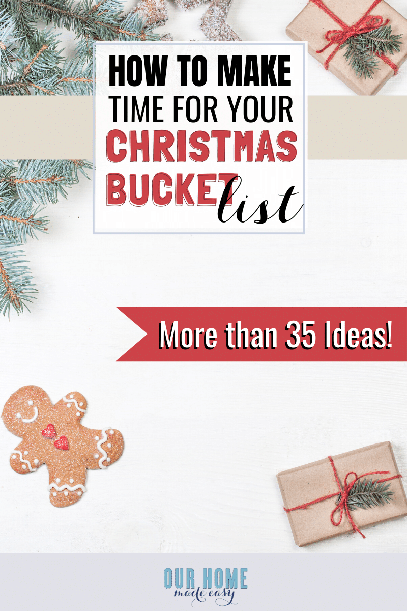 Christmas bucket list ideas