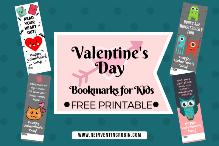 Valentine's Day Class Party Bookmarks! [FREE PRINTABLE]