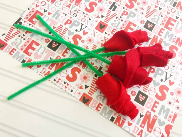Valentines Day Craft Idea For Kids Valentines Roses