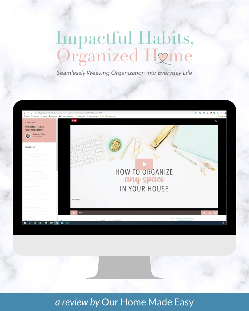 impactful habiots organized home review