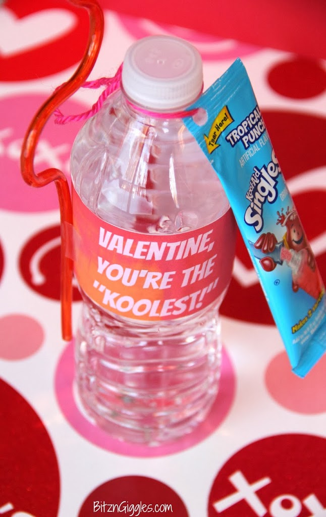 Kool-Aid Valentine with Free Printable Label