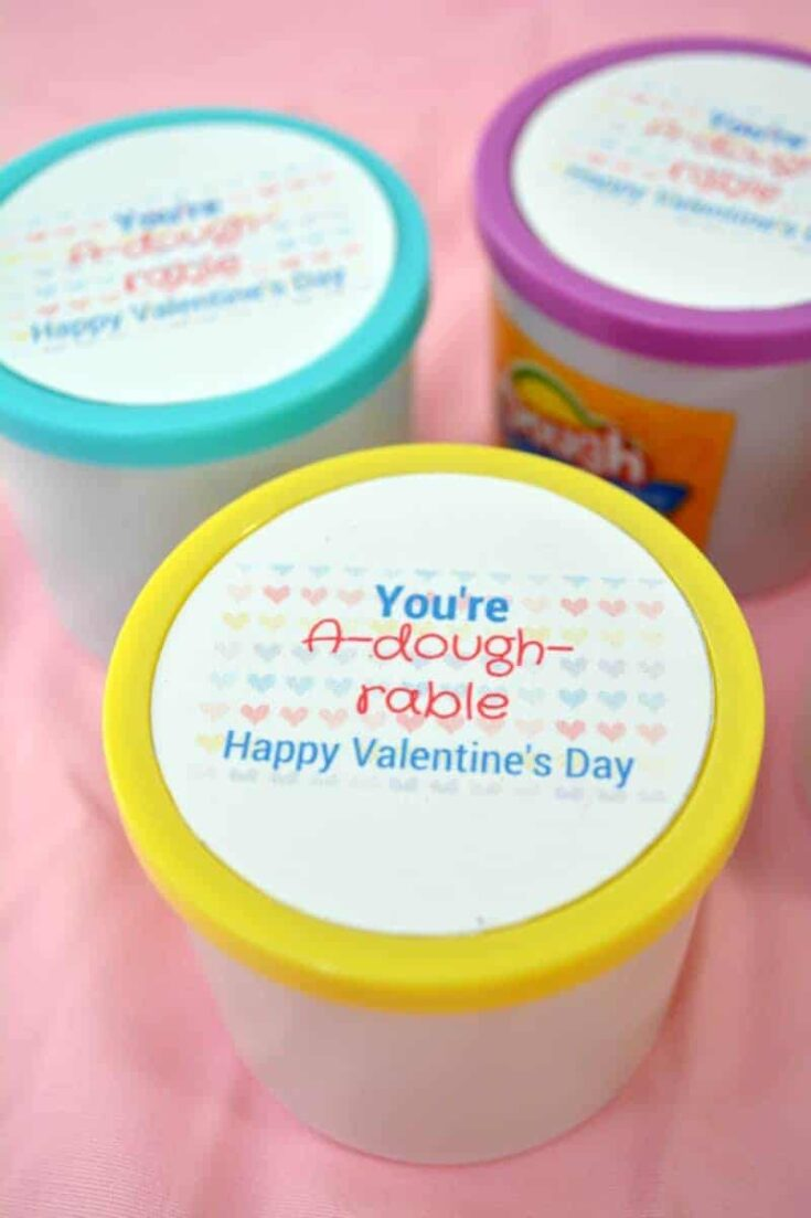 """You're A-dough-rable"" Play Doh Valentine Printable"