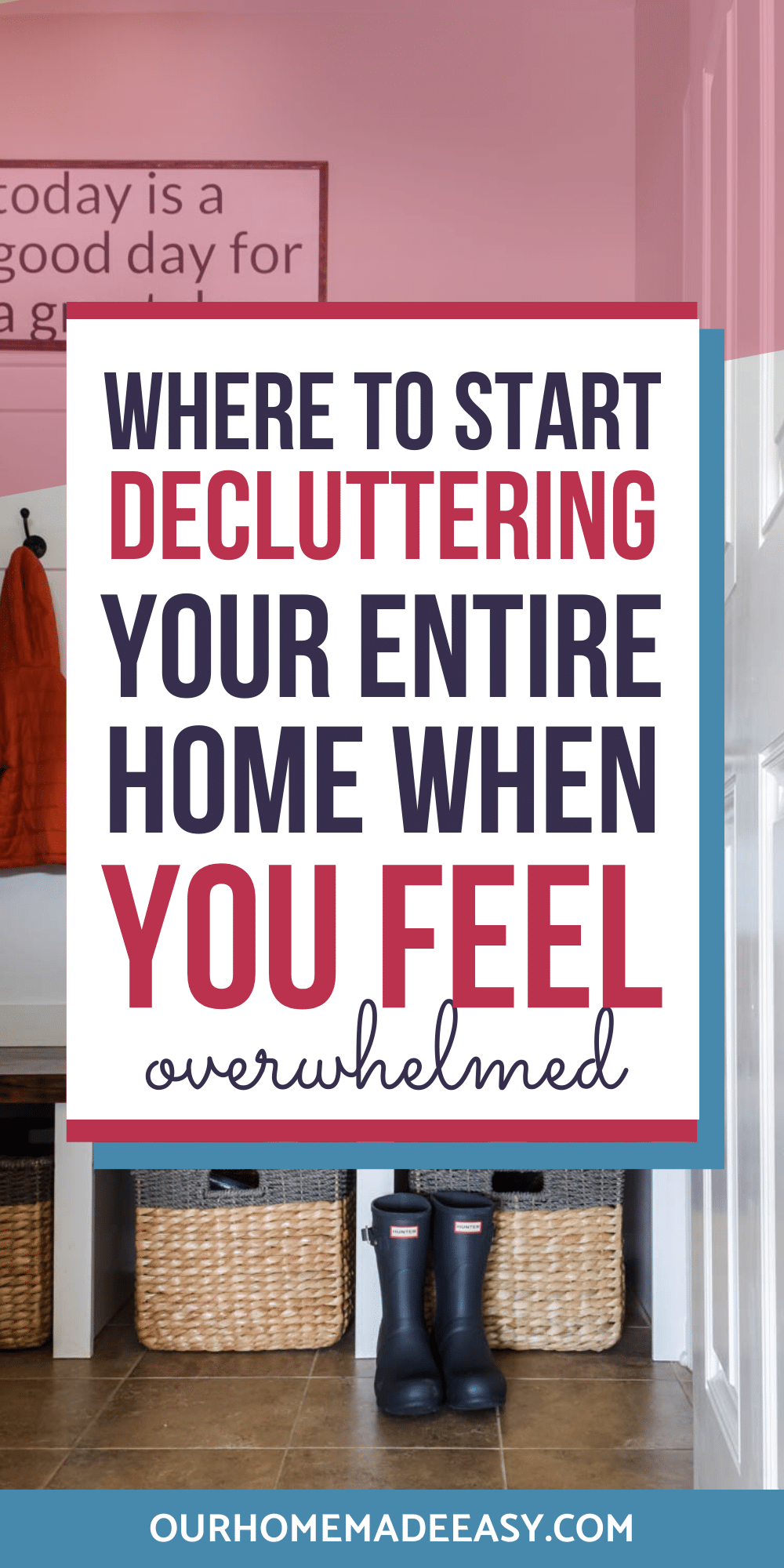 clear the clutter at home