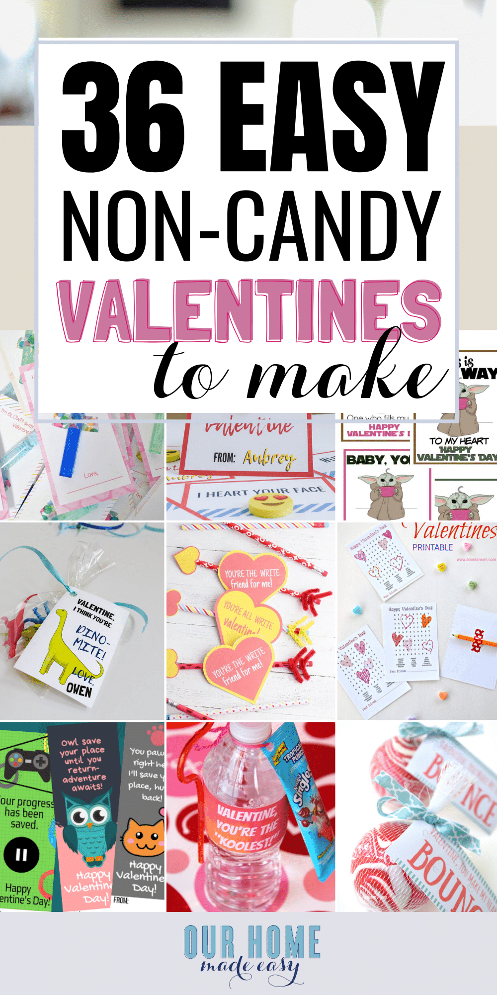 DIY Valentines Treats NO Candy