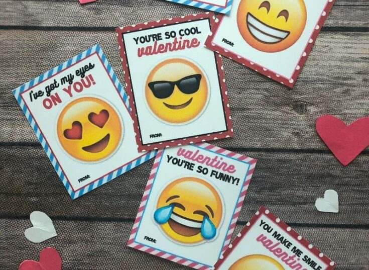 These Printable Emoji Valentine Cards Are So Much Fun {And They're FREE!}