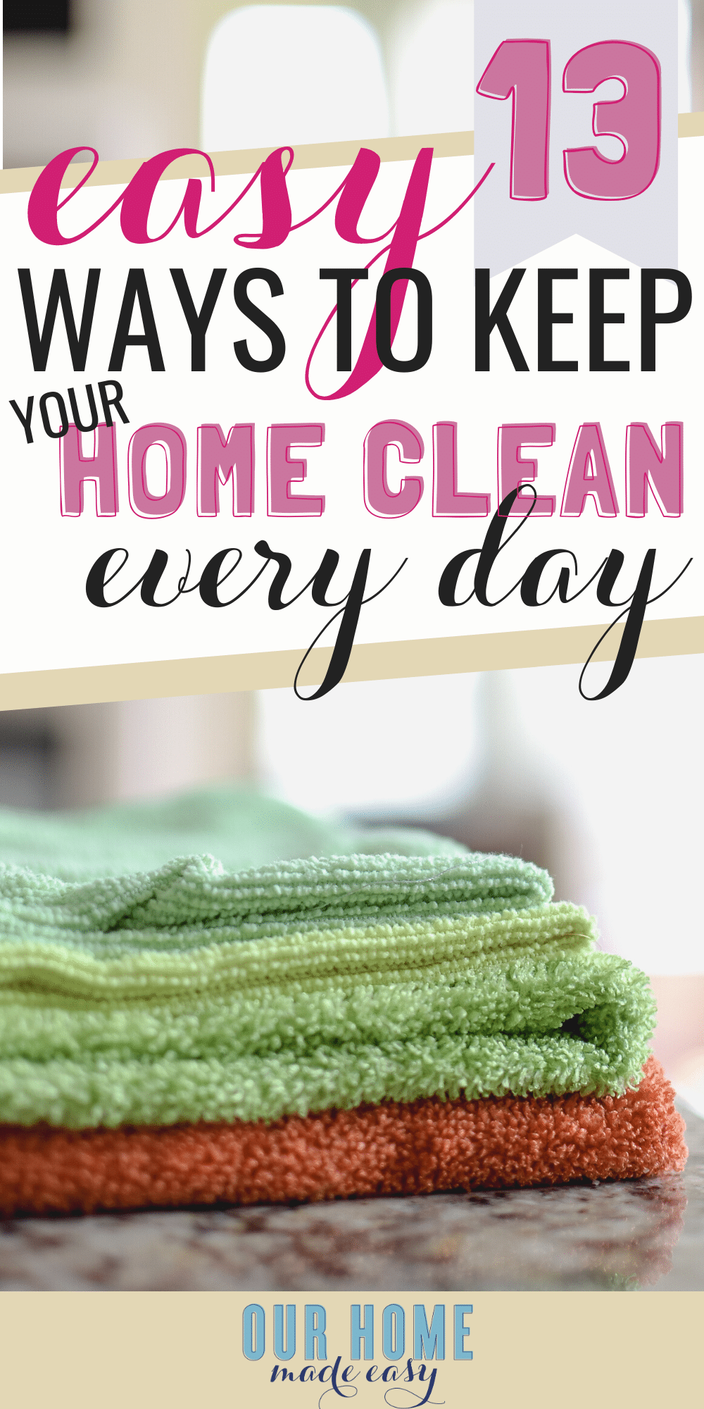 how to keep a home clean and tidy