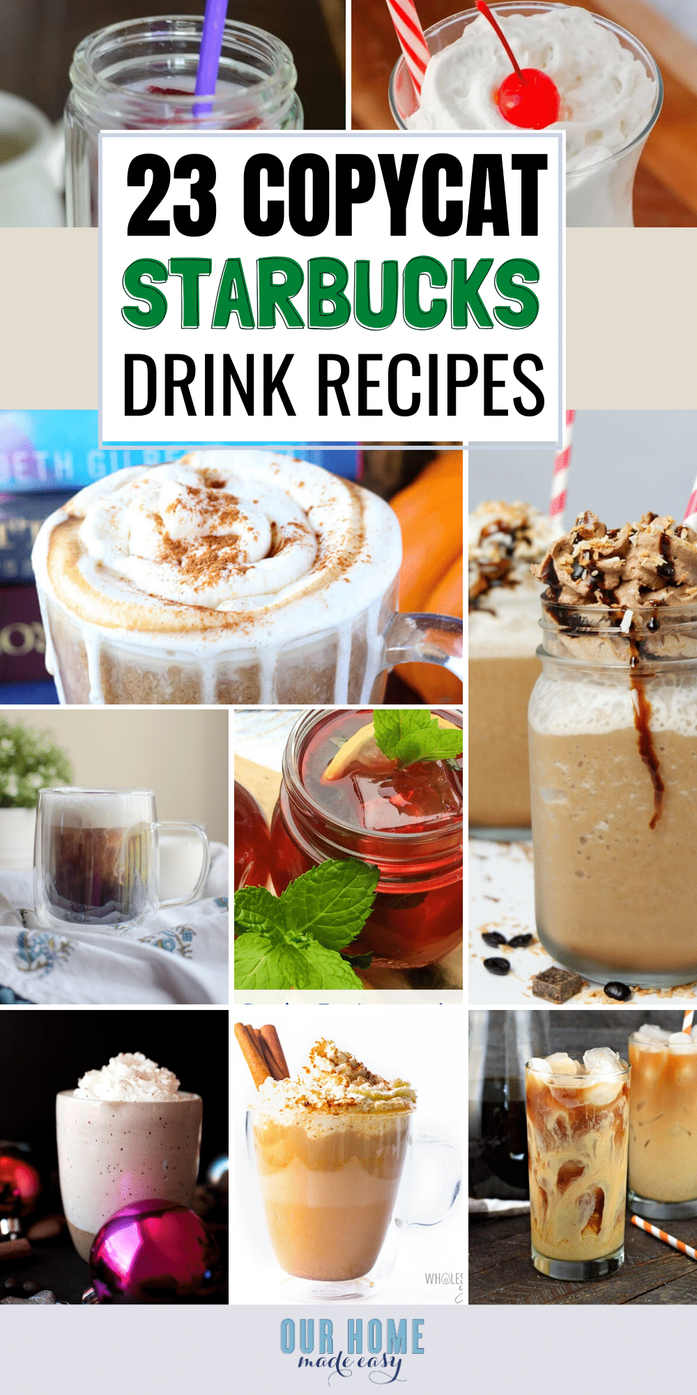 Save money with these copycat Starbucks recipes! You'll be able to make your favorite Starbucks at home today, including a great cold brew recipe.